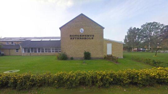 Her på Kongenshus Efterskole anmeldte en 16-årig pige mandag en voldtægt, som skulle være sket søndag aften.