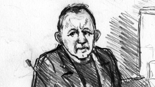 Peter Madsen (Sketch by : Anne Gyrithe Schûtt/Ritzau Scanpix). (Foto: Anne Gyrite Schütt/Ritzau Scanpix)