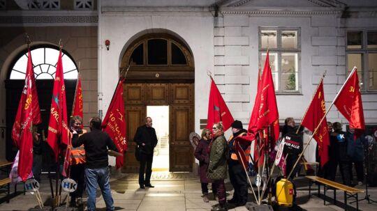OK18 Forhandlinger i Forligsinstitutionen kl. 23.00, onsdag den 25. april 2018.. (Foto: Jens Nørgaard Larsen/Ritzau Scanpix)