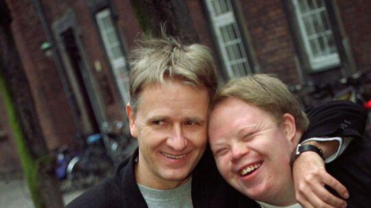 Journalisten Nick Horup(øverst tv) fik selskab Anna Ahleson(nederst tv), Peter Palland (nederst th) og Morten Jensen(øverst th), da han torsdag jan. 4, modtog den årlige Gerlev-Prisen for de tv-udsendelser, han lavede for TV 2 Sporten om de tre udviklingshæmmede unge.