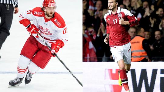 Nicklas Jensen og Nicklas Bendter er nu i samme klub, når modstanderen hedder Norge.