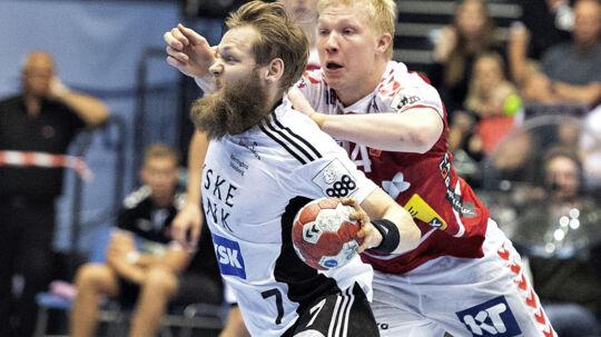 Bjerringbro-Silkeborgs Nikolaj Øris Nielsen var søndag med til at spille sit hold i DM-finalen. Scanpix/Henning Bagger