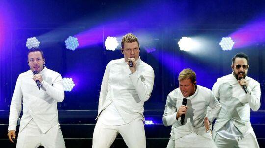 Backstreet Boys på scenen i Californien i maj 2017.
