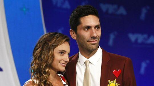 Nev Schulman sammen med sin hustru Laura Perlongo i 2017.
