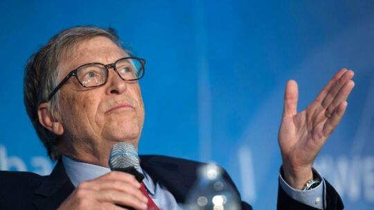 Bill Gates kritiserer præsident Donald Trump. / AFP PHOTO / ANDREW CABALLERO-REYNOLDS