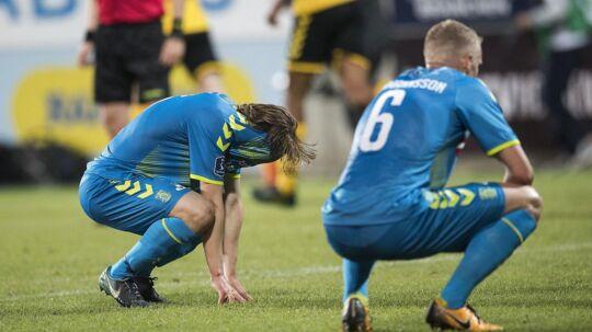 2-2 og utilfredse Brøndby-spillere efter fredagens kamp mod Horsens på Casa Arena.
