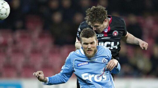 Niels Lodberg er tidligere spiller i Sønderjyske (i lyseblåt).