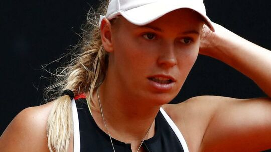 Tennis - WTA Mandatory - Madrid Open - Madrid, Spain - May 7, 2018 Denmark's Caroline Wozniacki during her second round match against Australia's Ashley Barty REUTERS/Juan Medina