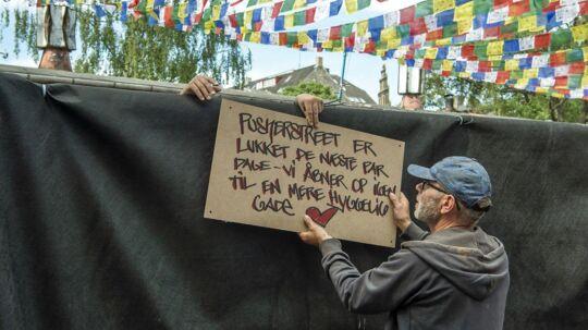 Christiania. Christianiterne lukker pusherstreet