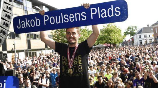 Jakob Poulsen fik en helt særlig hyldest.