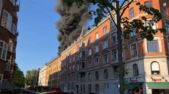 Der er opstået en brand i en ejendom på Nyvej på Frederiksberg i København