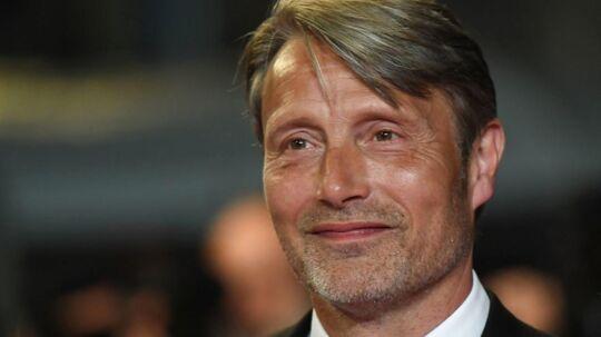 Mads Mikkelsen under filmfestivalen i Cannes, hvor filmen 'Arctic' blev vist.