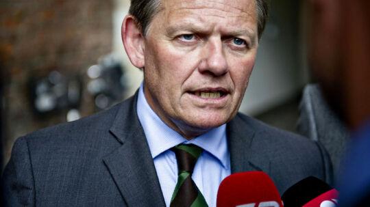 Lars Barfoed, Konservative efter skatteforhandlingerne i Finansministeriet mandag 18. juni (Foto: Torkil Adsersen/Scanpix 2012)