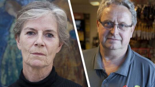 Annie Lionheart og Anker Pedersen er rystede over det brutale overfald på tvillingedøtrene.