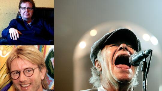 Øverst t.v.: Jan Lysdahl arbejder primært som producer i dag og har bl.a. siddet i dommerpanelet i talentshowet 'Stjerne for en aften'. Nederst t.v.: Producer Poul Bruun har arbejdet sammen med Kim Larsen i de sidste 40 år.