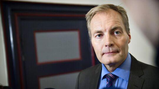 Arkivfoto. Dansk Folkepartis Peter Skaarup før sættemøde i Finansministeriet forud for forhandlinger om ny flerårsaftale for politiet.