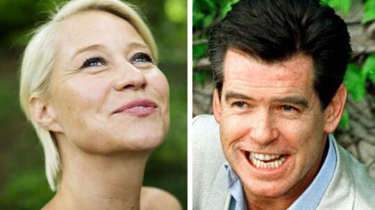 Pierce Brosnan har kysset nogle af verdens smukkeste kvinder i form af Bond-piger, bla.d Halle Berry. Men han foretrække den danske Trine Dyrholm. Hun har nemlig 'underskønne læber', lyder det.