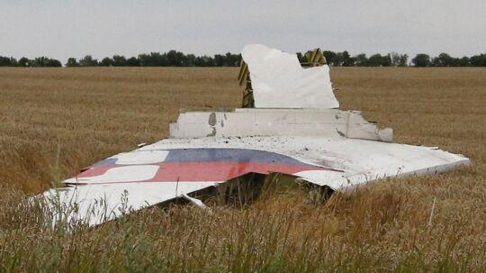 Et stykke af Malaysia Airlines Boeing 777 blev fundet i Donetsk regionen kort efter styrtet.