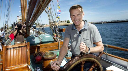 DF-formand Kristian Thulesen Dahl klar til at stævne ud fra Helsingør Havn Foto: Keld Navntoft/Scanpix 2013