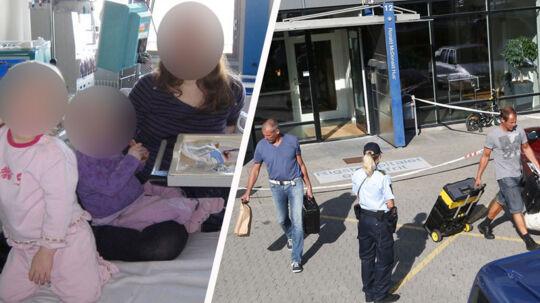 Faderen angreb sine to døtre søndag eftermiddag, og forsøgte derefter at slå sig selv ihjel.