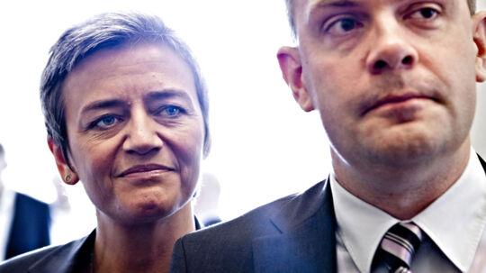 Her er alliancen mange socialdemokrater frygter og hader: Finansminister Bjarne Corydon og indenrigs- og økonominister Margrethe Vestager. (Foto: Nils Meilvang/Scanpix 2012)