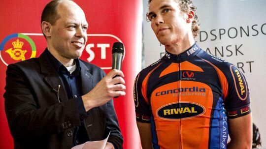 Peter Piil interviewer her cykelrytteren Mikkel Mortensen. Til sommer skal han dække VM for DR.