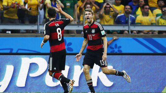 Thomas Müller var den første mand på tavlen i 7-1-sejren over Brasilien.