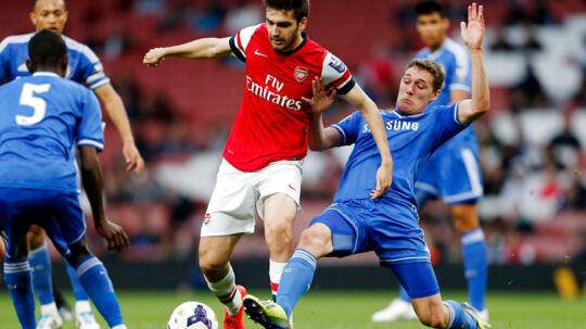 Andreas Christensen (th) kan ifølge et engelsk medie være med i Chelseas startopstilling, når Mourinho & co. på søndag møder Liverpool i et guldbrag i Premier League.