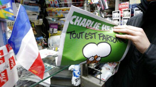 »Dagens seminar undersøger, hvorvidt Charlie Hebdos karrikaturer er racistiske,« lyder en arrangementsbeskrivelse i tilknyning til konferencen. Foto: Stephane Mahe/Reuters