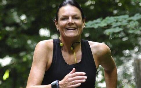 Annette Fredskov har sat sig for at løbe 366 maratonløb i løbet af 365 dage, og søndagens løb var 'blot' nummer 50 i træk. Privatfoto.