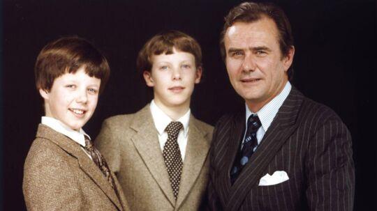 1980. Prins Henrik med Kronprins Frederik og Prins Joachim.