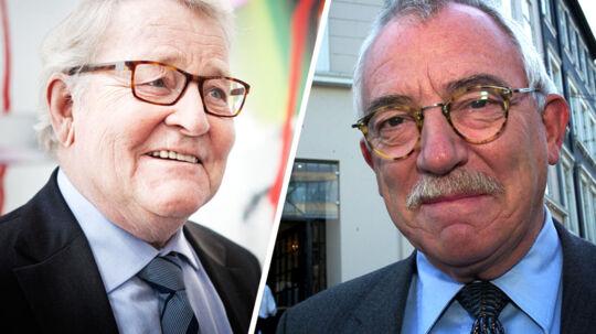 Uffe Ellemann-Jensen og Niels Helveg Petersen, som begge er tidligere udenrigsministre, kan skrive under på, at udenrigsministerposten er en krævende post.