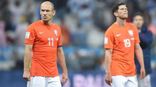 Arjen Robben scorede i straffesparksafgørelsen, men måtte sande, at Argentina gik videre til finalen med en sejr på 4-2.