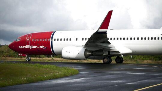 Arkivfoto. Flyselskabet Norwegian aflyser næsten alle indenrigsflyvninger i Skandinavien fredag.