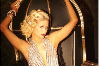 Paris Hilton i juleudstyr.
