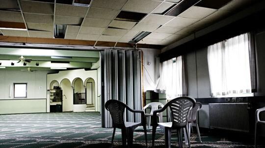 Moskeen på Ørbækvej i Odense. Her arbejdede Morten Storm, der sidste uge stod frem og fortalte om sit samarbejde med PET og CIA, ifølge Politikens oplysninger på at radikalisere unge muslimer.