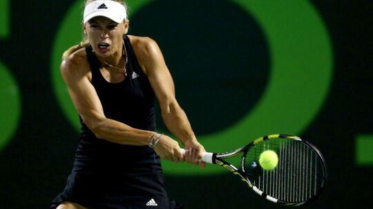 Wozniacki vandt stensikkert i tredje runde i Miami.