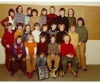 Klassebillede fra Borgerdigeskolen i Herlev, hvor Bo Hamburger og 'tys-tys-kilden' gik i klasse sammen.