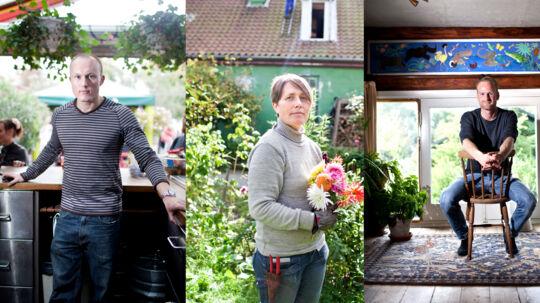 Fra venstre mod højre: Jes Christian Fisker, Tanja Fox, Valdemar Anton Vest-Lillesø. De er voksne børn af Christiania. Klik dig videre, og læs deres historie.