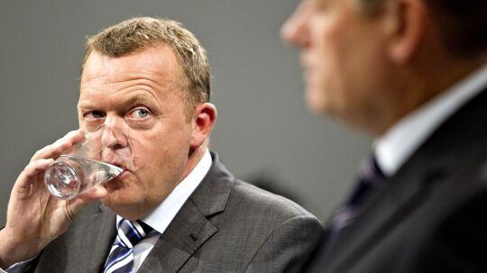 Statsminister Lars Løkke Rasmussen (tv) havde ikke på forhånd fortalt Lars Barfoed om sin plan for de første 100 dage i tilfælde af han genvælges. Arkivfoto