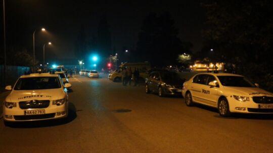 Vestegnens Politi måtte have forstærkninger for at skabe ro i Brøndby fredag aften.