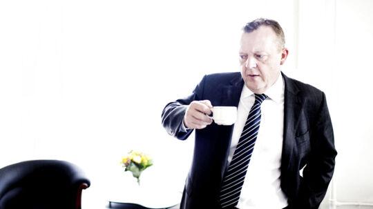 Venstres formand, Lars Løkke Rasmussen i sit nye kontor på Christiansborg.