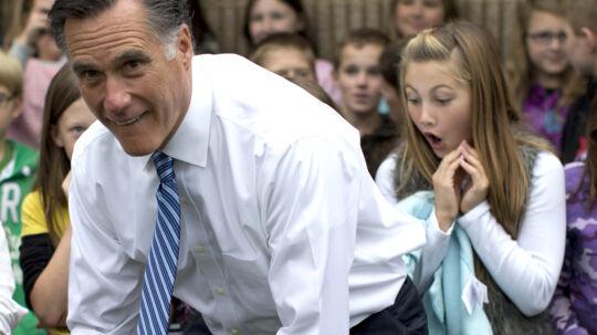 Hovsa! Hvad sker der lige her? Højreorienterede amerikanere raser over dette billede, hvor den republikanske præsidentkandidat er fotograferet i en højst uheldig stilling.