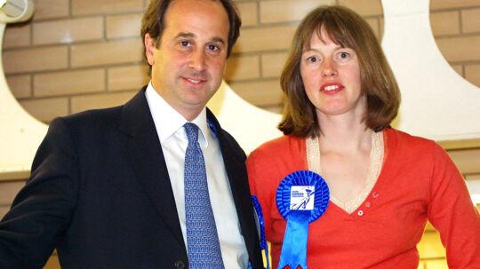 Her ses den afgående konservative minister Brooks Newmark med sin hustru, Lucy