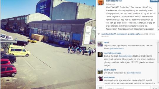 Annette Heick opslag på Instagram