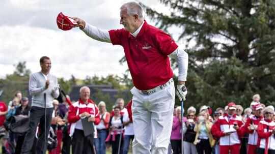Her ses Lars Larsen ude på banen under European Tour på Himmerlands Golf & Spa.
