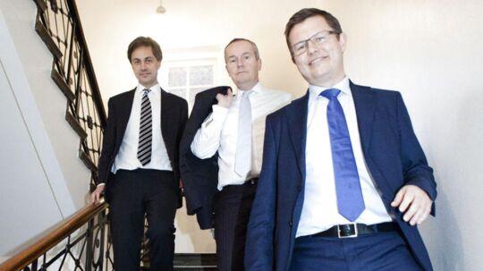 Fra venstre: Partner og medlem af bestyrelsen Ole Spiermann, partner og administrerende partner frem til 1.januar 2015 Christian Schow Madsen, partner og bestyrelsesformand Mogens Thorninger