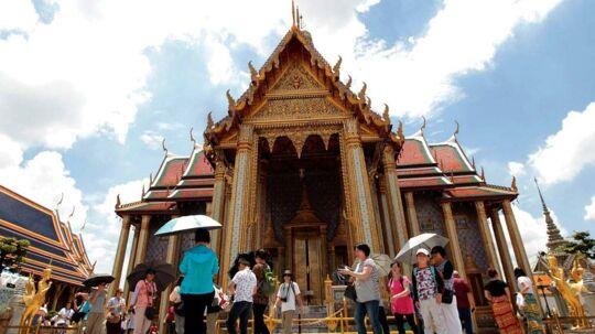 Smaragdbuddha-templet (Wat Phra Kaeo) i Bangkok.