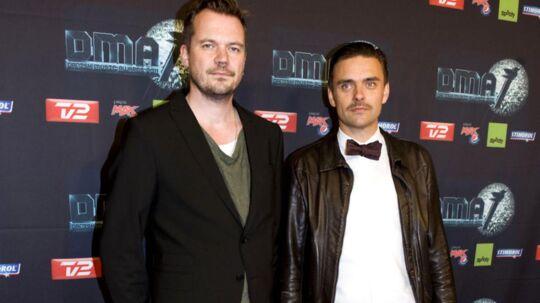 Peter Sommer og Simon Kvamm til DMA med sit Movember-skæg, der er anlagt for at skabe opmærksom om mænds helbredsproblemer.