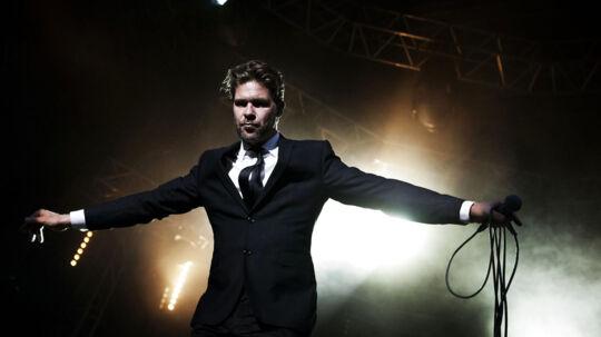 Søren Rastedog Hej Matematik gav en rigtig god koncert og fest på Rytmehans onsdag aften. Foto: Camilla Rønde